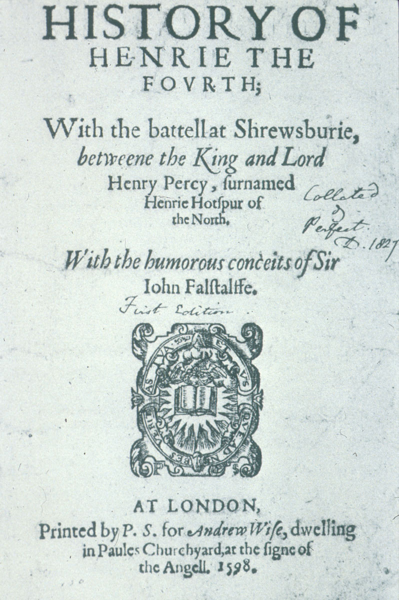 shakespeare henry iv part 1 Henry iv, part 2: henry iv, part 2, chronicle play in five acts by william shakespeare, written in 1597–98 and published in a corrupt text based in part on memorial reconstruction in a quarto edition in 1600 a better text, printed in the main from an authorial manuscript, appeared in the first folio of 1623 and is.